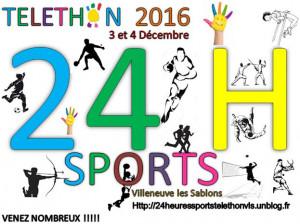 Telethon 2016 – Les 24H Sports c'est partis !!!!! Venez Nombreux pour une experience Unique afin de soutenir une belle cause.